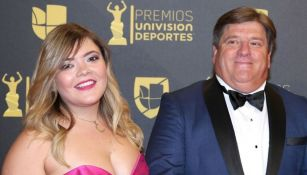 Mishelle y Miguel Herrera