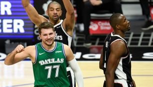 Doncic celebra ante los Clippers