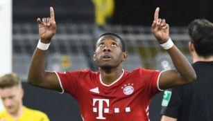 David Alaba en un partido con el Bayern Munich