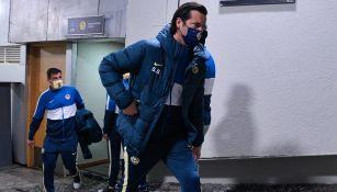 Solari ingresa al Estadio Azteca