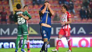 Pablo Barrera tras fallar el penalti