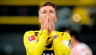 Marco Reus tras fallar el penalti a favor del Borussia Dortmund