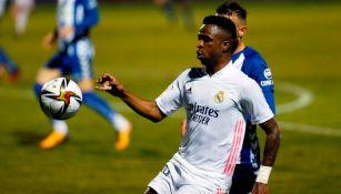 Vinicius Jr. con el Real Madrid ante el Alcoyano