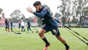 Bruno Valdez en un entrenamiento con el América