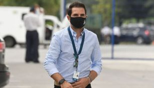 Duilio Davino previo a un partido de los Rayados de Monterrey