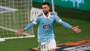 Brais Méndez tras anotar el primer gol del Celta de Vigo