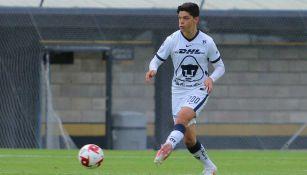 Amaury García en partido con Pumas
