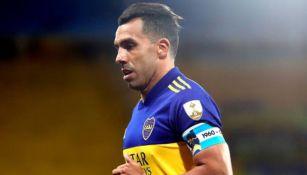 Carlos Tevez en partido con Boca