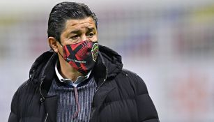 Luis Fernando Tena en un partido con Juárez