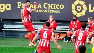 Luis Suárez en festejo con Atlético de Madrid