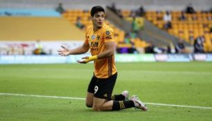 Raúl Jiménez en lamento con Wolverhampton