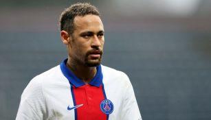 Neymar durante el partido ente el PSG y el Lorient