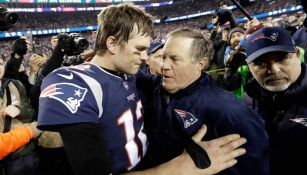 Tom Brady junto a Bill Belichick