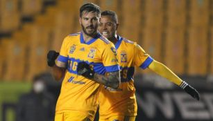 André-Pierre Gignac tras anotar un gol con Tigres