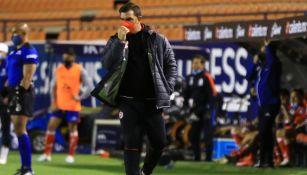 Pablo Guede: 'Me quedo con darle la vuelta al marcador tras ir perdiendo ante San Luis'
