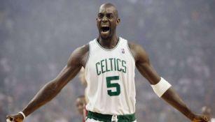 Kevin Garnett en un juego de los Celtics