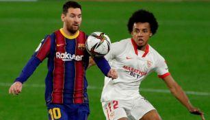 Lio Messi bajo la marca de Jules Koundé