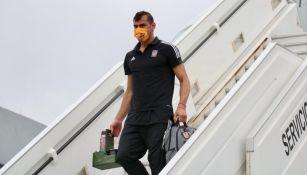 Nahuel Guzmán en su llegada a México