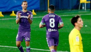 Fekir celebrando el primer gol del partido para el Real Betis