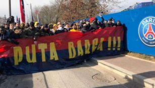 Aficionados del PSG despidiendo a su equipo