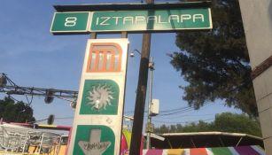 Estación Iztapalapa en el metro de la CDMX