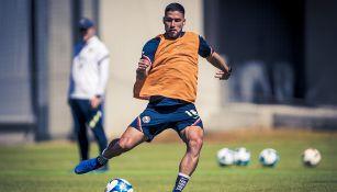 Bruno Valdez entrena en Coapa