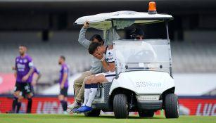 Juan Ignacio Dinenno tras su lesión
