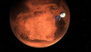 Proyección del Perseverance en Marte