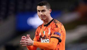 Cristiano Ronaldo en el partido entre la Juventus y el Porto