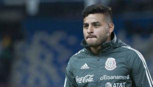Alexis Vega previo a un partido con Selección