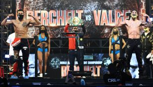 Ceremonia de pesaje del 'Alacrán Berchelt' vs Óscar Valdez