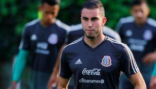 Alejandro Mayorga durante una sesión con el Tricolor