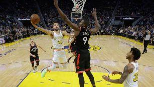Stephen Curry, en el juego entre Raptors y Golden State
