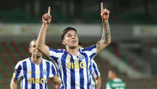 Porto en festejo de gol