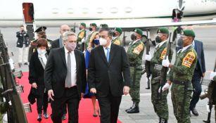 Alberto Fernández llegando a México
