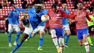 Acciones entre Napoli y Granada en Europa League
