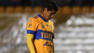 Hugo Ayala en un partido con los Tigres