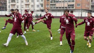 Jugadores de Torino en un entrenamiento
