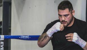 Andy Ruiz durante un entrenamiento
