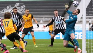 Escuadra del Wolverhampton contra Newcastle en la Premier League