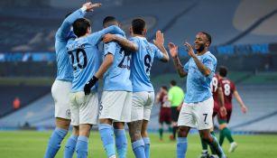 Raúl Jiménez: Wolverhampton cayó ante un enrachado Manchester City