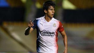 JJ Macías en festejo de gol