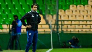 Nicolás Larcamón en victoria ante León