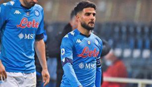Lorenzo Insigne en lamento ante Sassuolo