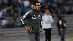 Jaime Lozano en un partido con el Tri