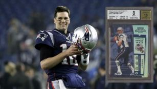 Brady con los Pats y su cromo especial