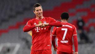 Lewandowski marcó un 'hat-trick'