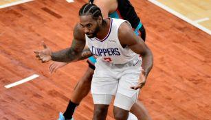 Kawhi Leonard en un partido con los Clippers