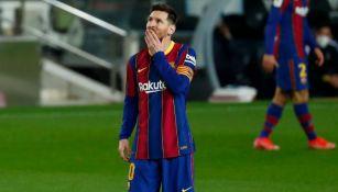 Lionel Messi en un partido del Barcelona