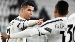 Cristiano Ronaldo en un partido de la Juventus